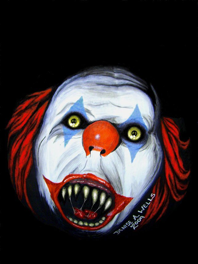 56 best creepy clowns images on pinterest evil clowns for Clown pumpkin painting