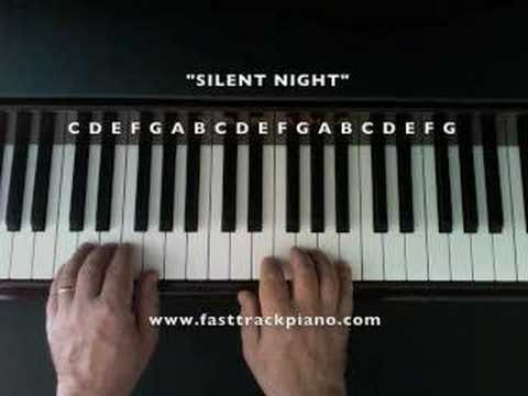 """""""Silent Night"""" Piano lesson for beginners- very good instructions..."""