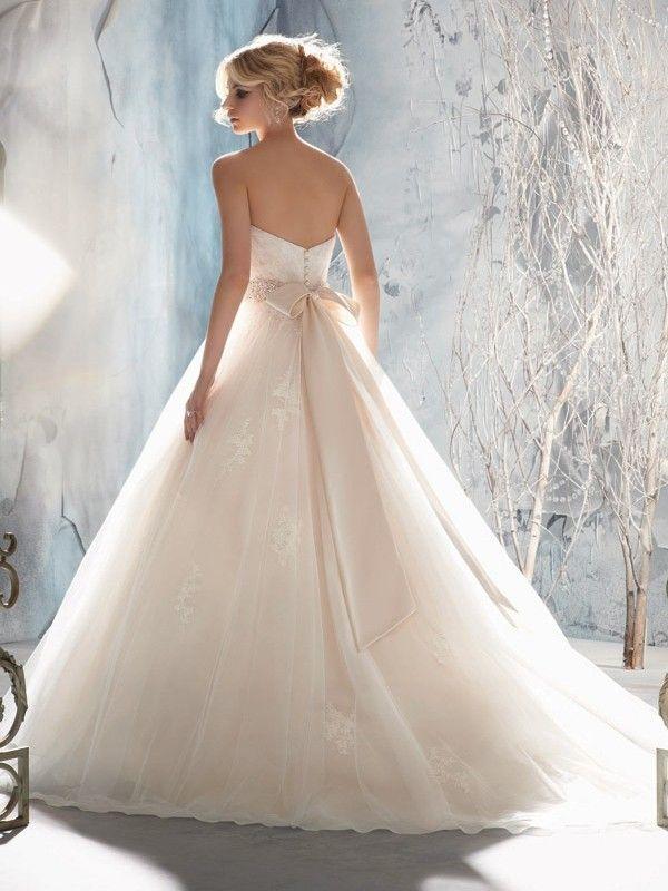 Ball Gown Sweetheart Tulle Sleeveless Court Train Beading Wedding Dress