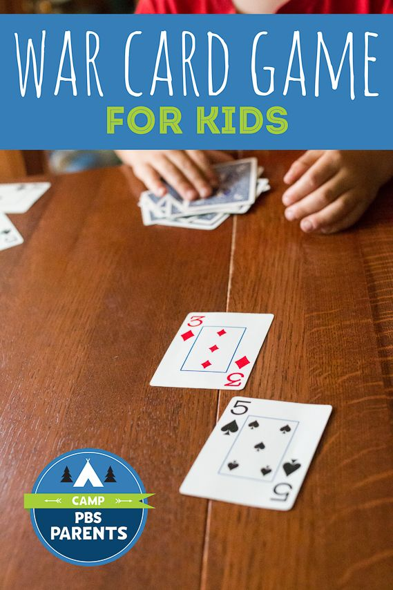 How to play a war card game for kids (with variations for younger/older)