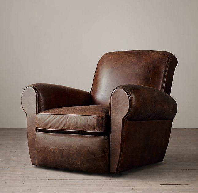 RHu0027s Parisian Leather Swivel Chair:Inspired By An Original From Paris, This  Is The Perfectly Proportioned French Club Chair. The Sculpted, Domed Back  And ...