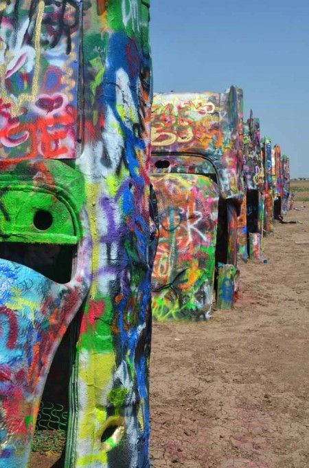 Tips for Visiting Cadillac Ranch in Amarillo, TX~What to Bring, What to Do, How to get there? #roadsideattraction #Texas
