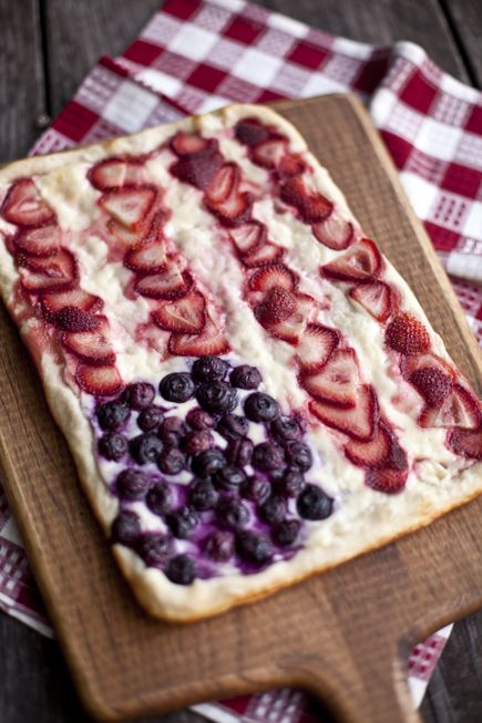 Star Spangled Berry Pizza on the Grill | Bread in 5
