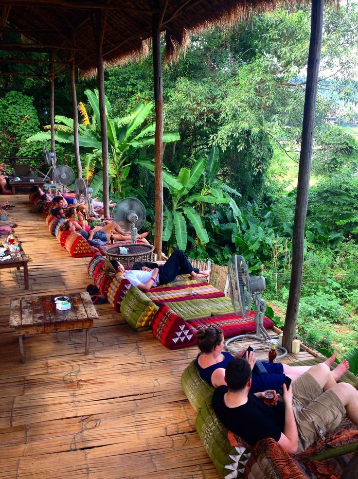 It looks like the Utopia bar?  Wanderlust trip tips: what to do in Luang Prabang, Laos. www.kelaguk.tumblr.com