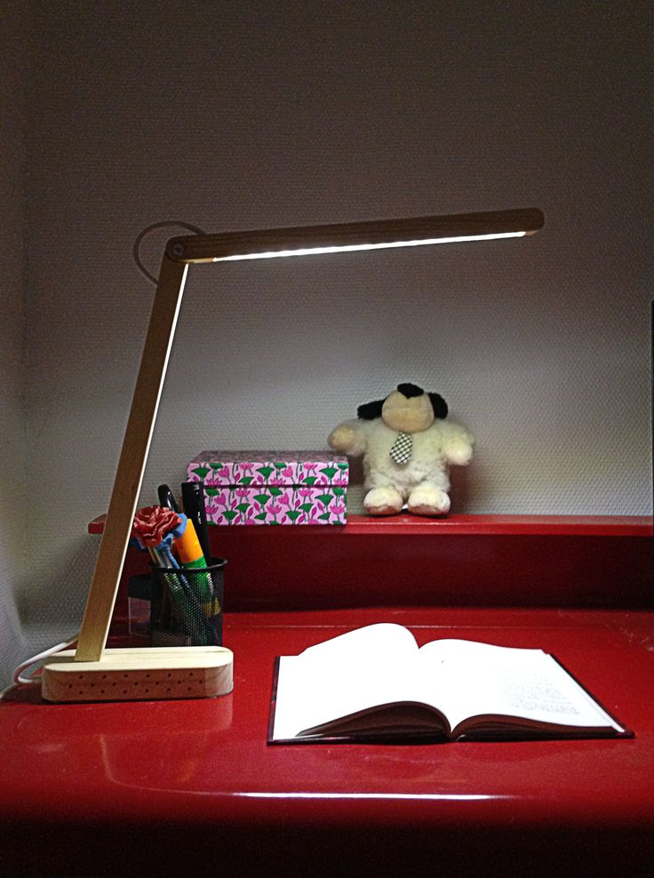 WooLed 2 - LED lamp made in wood by Fiorella H. Madsen