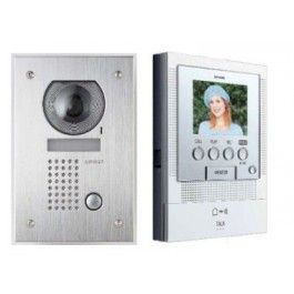 Aiphone Colour Intercom Kit JF2 Handsfree with Flushmounted door station.