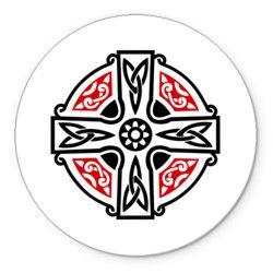 Кельтский крест с узорами