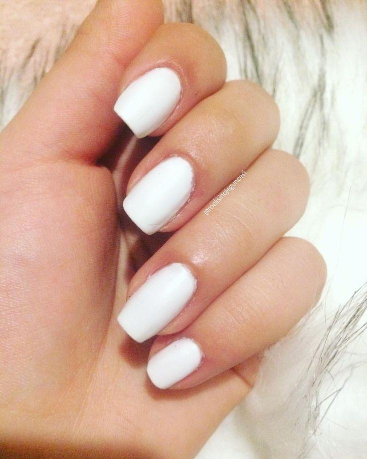 """Instagram'da My Nails,nailart,instablogger: """"Kırılan tırnağımın kusuruna bakmayın 🙈 💅🏻Mat beyaz 🌀#koton 002 . . . . . . . . . . . . .  #nail #fashion #followme #oje  #tırnaklarım…"""""""