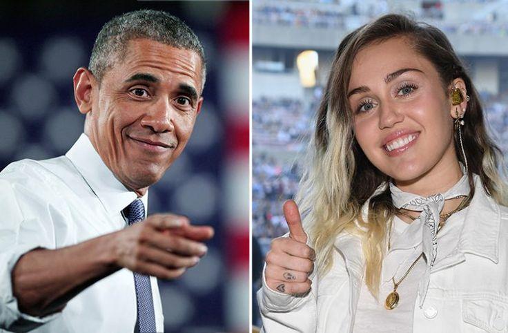 La foto de Obama y Miley Cyrus en bikini que se hizo viral