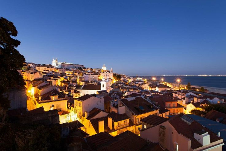 #Lisbom old district roofs at dawn. #Portugal