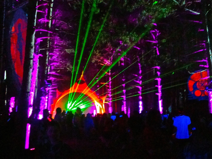 inside Sherwood Forest @ electric forest festival! pretty sweet huh?