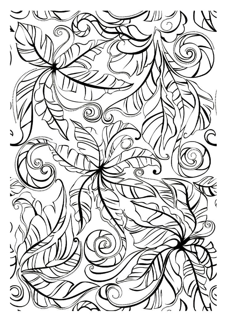 leaf coloring pages for adults - photo#19