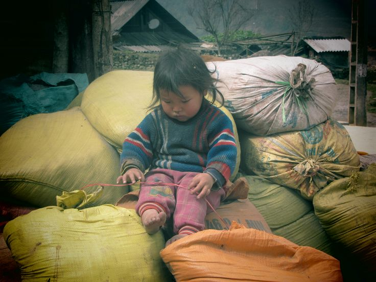 little boy in Cat Cat village, Sapa, Vietnam