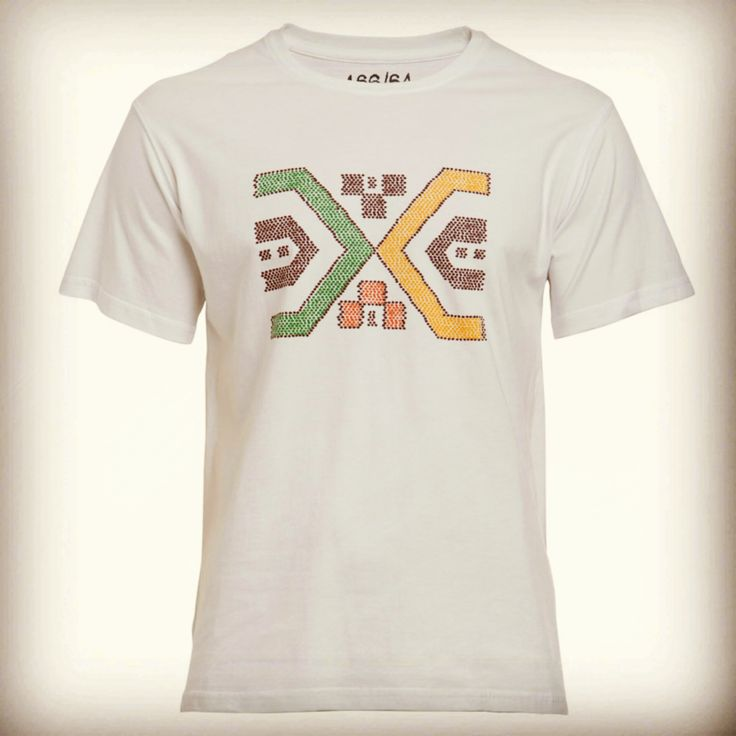This print, in the style of the colourful beadwork that has been an age-old tradition of the Xhosa people, including the royal Thembu tribe from which Madiba derived his name. #Winter15 #Menswear #Tshirts #Prints #Xhosa #Beadwork #Madiba #LivingtheLegacy
