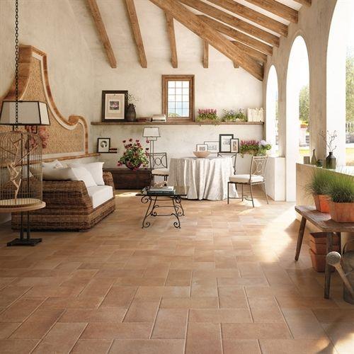 Porcelain stoneware tile rustic terre estensi cotto del sole cotto d 39 este outdoor - Fliesenkombinationen bad ...
