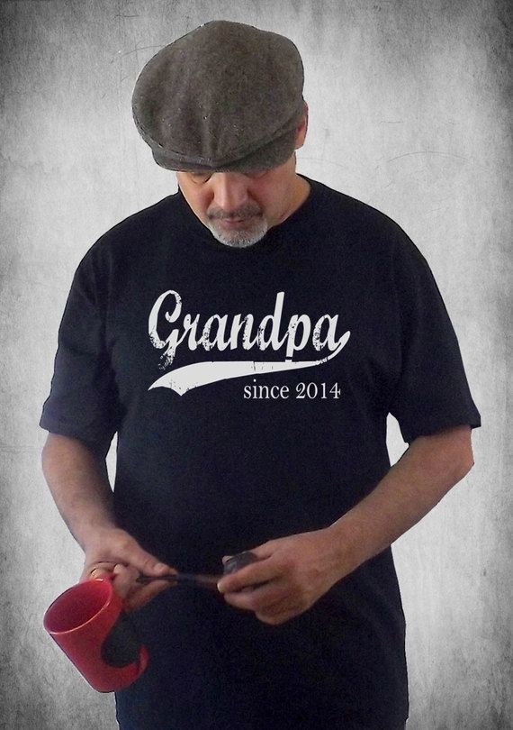 Grandpa since 2014 - Use heat transfer materials and a heat press to personalize your big event.