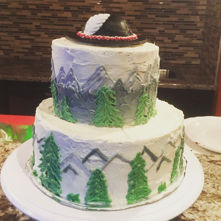 Polish mountain themed birthday cake