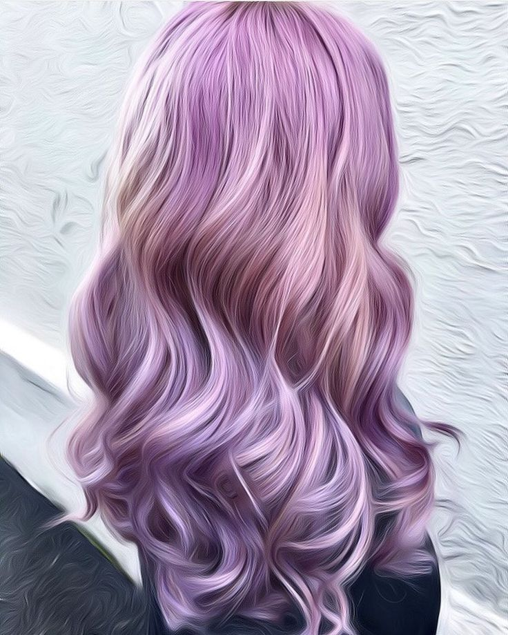 Dusty Lilac hair and dusty rose hair color with long wavy hair by Meeca of Ross Michaels Salon www.instagram.com/hotonbeauty
