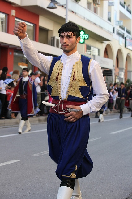 #Crete Oxi Day #Rethymno by cinematographer, via Flickr. #traditional #costume #man #PloosDesign