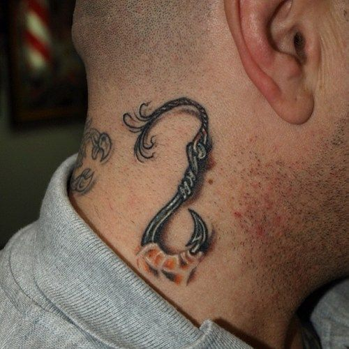 89 best fish tattoo ideas images on pinterest blue lines for Fish hook heart tattoo