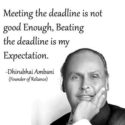 #Reliance founder dhirubhai #ambani #inspirational #quotes