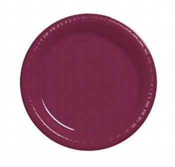"""Burgundy 8.75"""" Dinner Plate Plastic Solid Bulk 600ct by Creative Converting. $109.24. Bulk by the Case, Burgundy 8.75"""" Dinner Plate Plastic Solid Bulk 600ct. For each case you will receive 12 individual packages that contain 50ea. Great for large Birthday Parties, Church Events, Sporting Events, Company Parties, Charity Events and more! You save big when you buy by the case!. Save 48% Off!"""