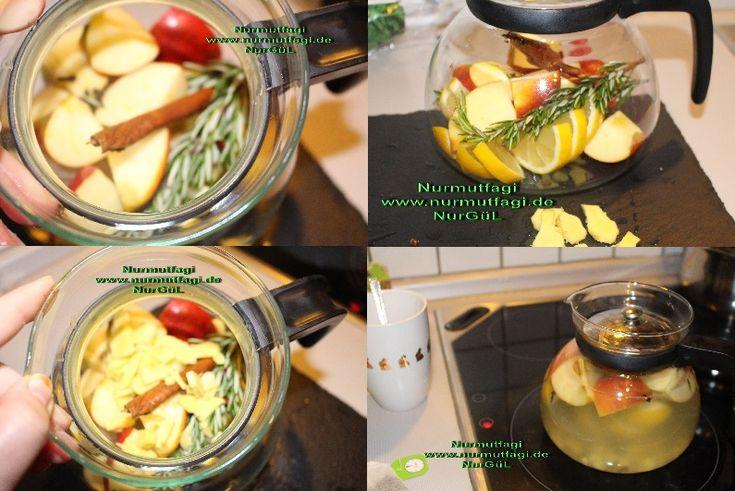 Zayiflama Cayi Yag yakan zayiflama cayi, yag yakici cay, elma, tarcin, limon, biberiye, karanfil, zencefil ile zayiflama cayi tarifi