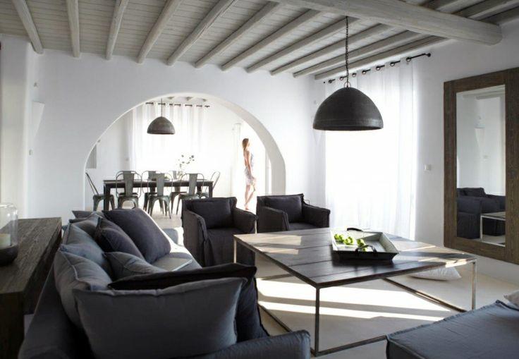 Grey Living Room III of Gold Villa in Mykonos: http://instylevillas.net/property/gold-villa-mykonos/