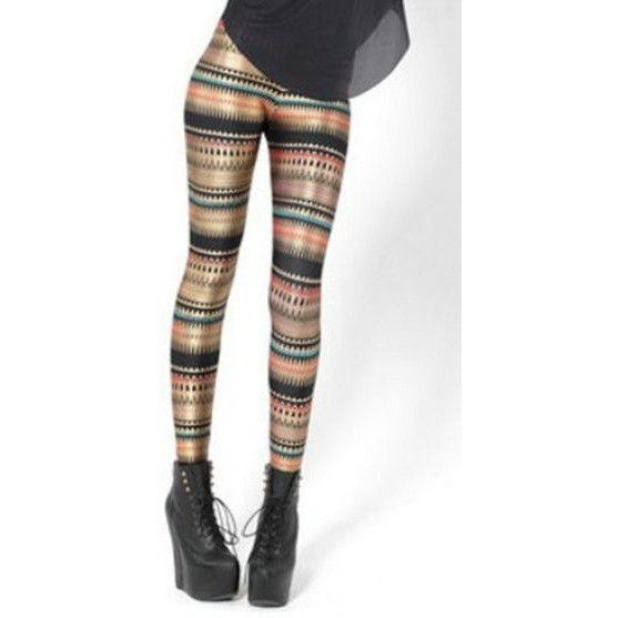 Fashion Stripe Series Printed Leggings