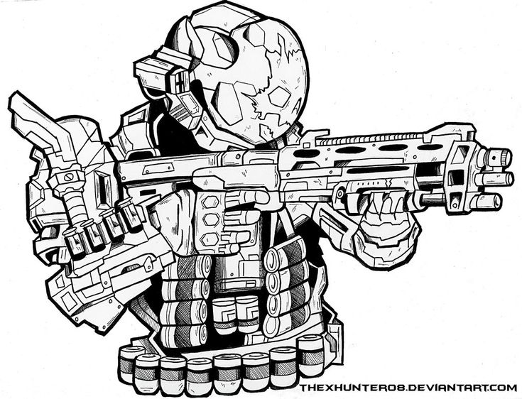 halo 4 gun coloring pages - photo#16