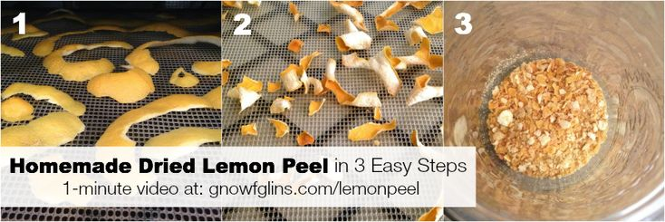 Got extra lemon peels? Often recipes say to trim them off and juice the rest of the lemon. But no need to waste those peels! Make homemade dried lemon peel in 3 easy steps. In this video, you'll see me do it in (literally) a minute. [by Wardee Harmon]