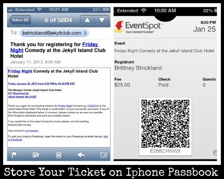 Comedy Tickets On Iphone Passbook! - Jekyll Island Club Hotel