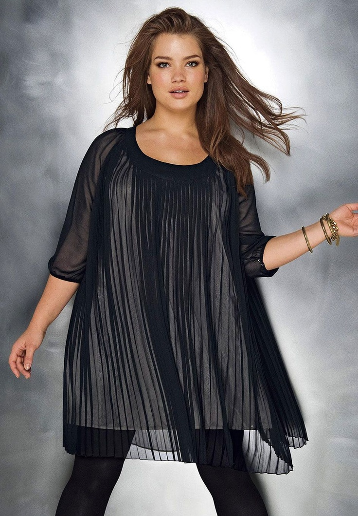 Plus Size Pleated A-line Dress image