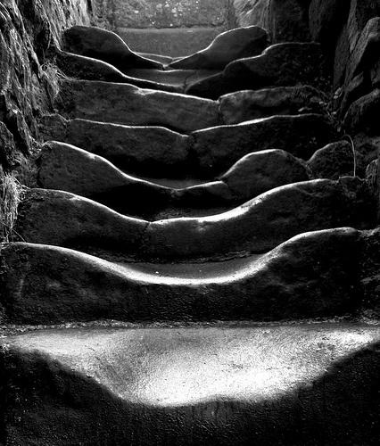 escalera stair roca stone piedra camino track path miraquechulo