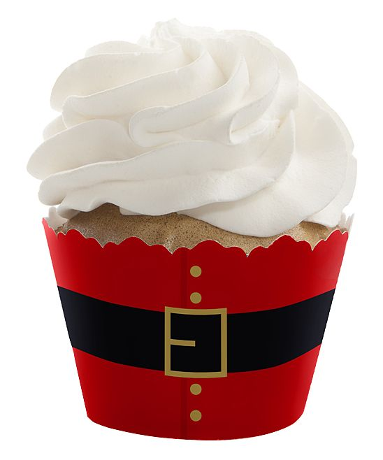 Jolly Santa Cupcake Wrappers - Set of 24