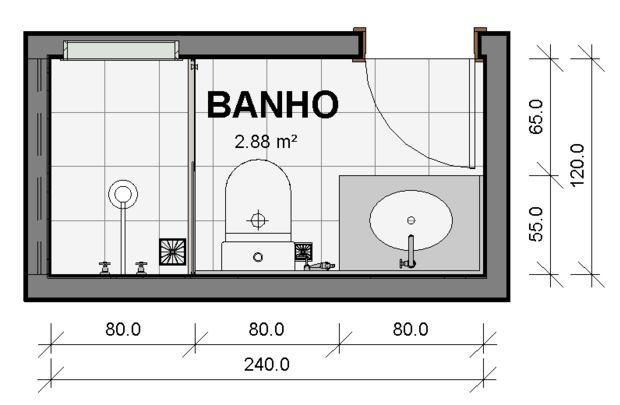 Banheiros Singles - Série Pré-dimensionamento de Ambientes   lyxline