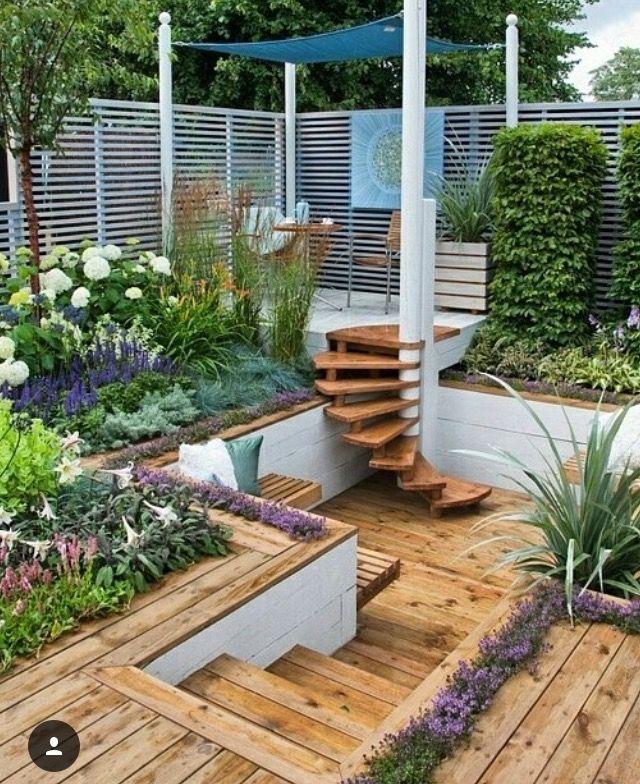 36 besten Garten Bilder auf Pinterest Balkon, Gärten und - garten terrasse holz anlegen