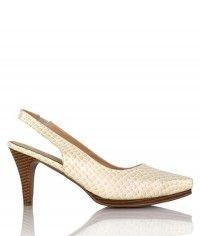 Minx - Women's gloss beige snake wood-grain mid heels $99.00 #shoeenvy #shoes #fashion #instalove #pretty #ethical #glamorous