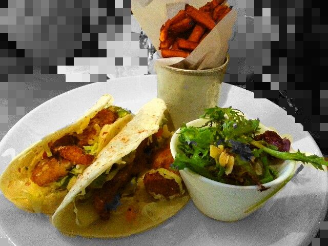 Spicy fish tacos at Plan B, Ipoh