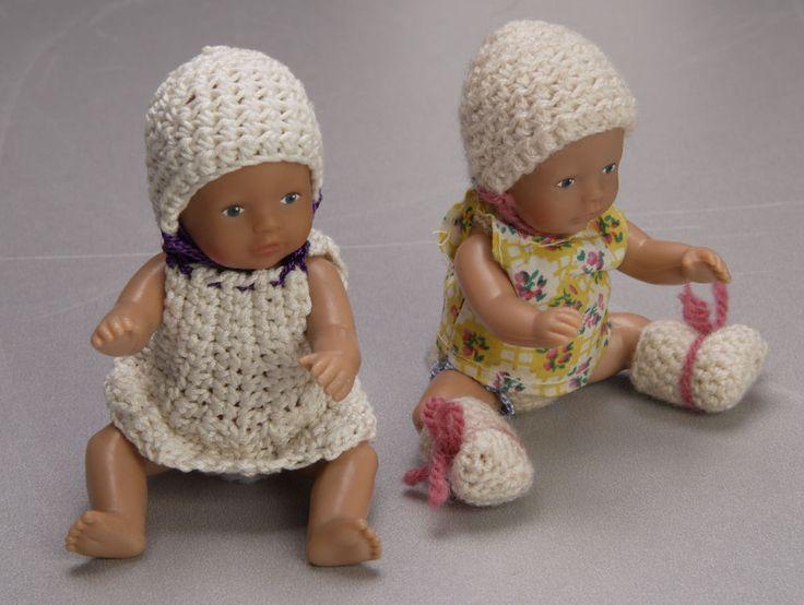 Zapf Creation, Mini Baby Puppe mit selbst gehäkelten Kleidchen, süss, goldig