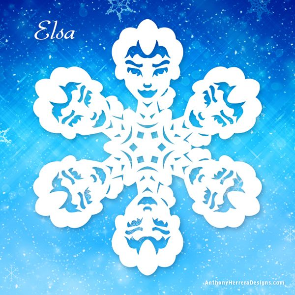 Decorate Your Home with Frozen-Inspired Paper Snowflakes