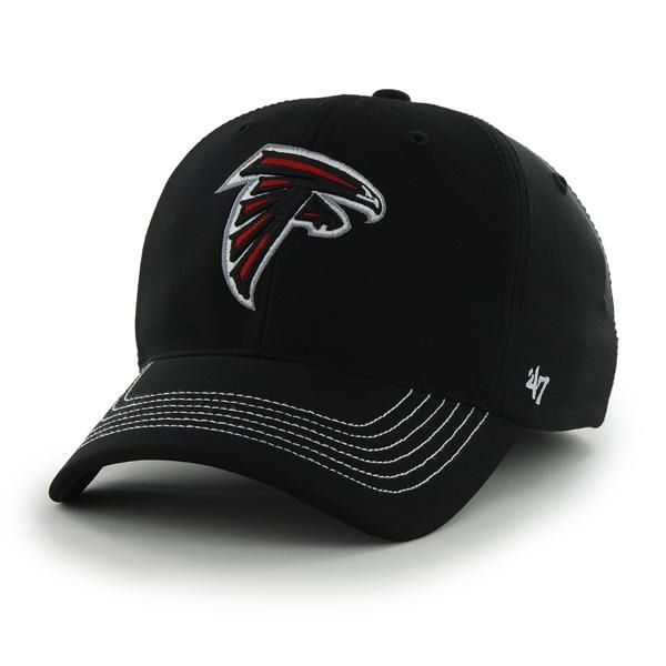Atlanta Falcons Game Time Closer Black 47 Brand Stretch Fit Hat