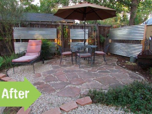 Corner Block Landscaping Ideas : Corrugated metal fence garden whimsy adornment