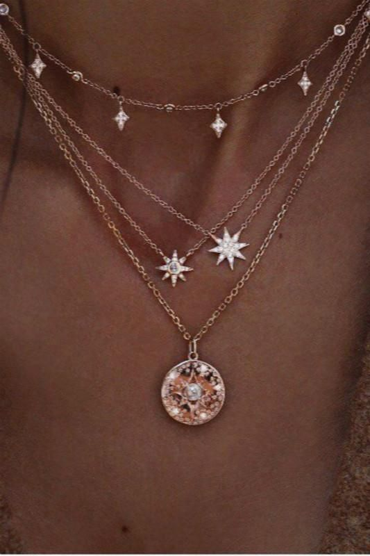 da90a86650 Stars pendant multi-layer necklace | Layers | Necklace Trends | 2019 Jewelry  Trends