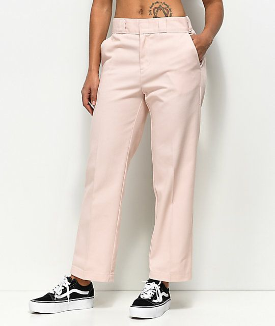 6c1917775c86 Dickies 67 Crop Ankle Pink Work Pants in 2019 | Fall | Dickies pants ...