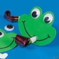 This is a great way to include arts and crafts in any party. Just follow the easy directions, then celebrate with your festive creation! Kit includes items to make twelve frog party favors. $9.95