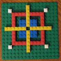Using Legos to teach symmetry.