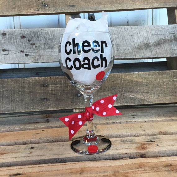 Cheer Coach Wine Glass Cheer Coach Cheer by SimplyStatedApparel