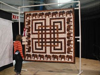 "Here is another one of my favourites,""Elephant Walk"" by Winnifred Masson. She won Best Large Quilt in the Ontario Juried Quilt Show 2007. Th..."