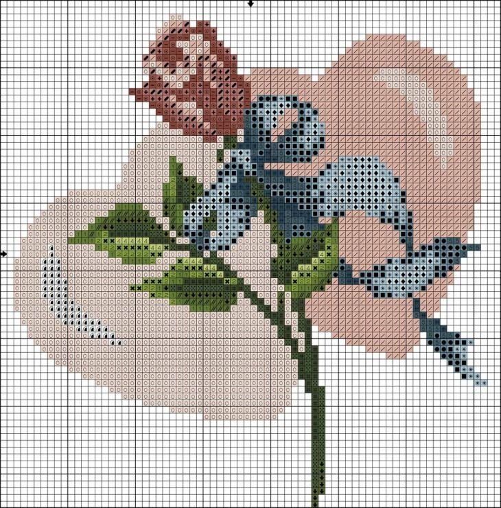 Gallery.ru / Фото #12 - 2 - irisha-ira | Роза вышивка ...